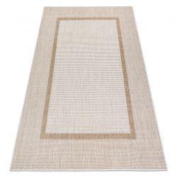 Carpet SISAL SION Frame 21782 Flat woven ecru / beige