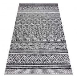 Carpet SISAL SION Zigzag, Diamonds Boho 22168 Flat woven black / ecru