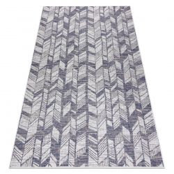 Carpet SISAL SION Chevron, Herringbone 22180 Flat woven ecru / blue / pink