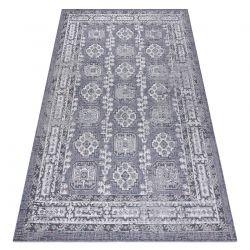 Carpet SISAL SION Frame, ornament, vintage 2832 Flat woven blue / pink / ecru