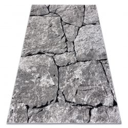 Modern carpet COZY 8985 Brick, paving, stone - structural two levels of fleece grey