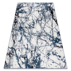 Modern carpet COZY 8871 Marble - structural two levels of fleece blue