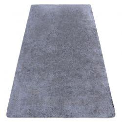 Modern washing carpet LAPIN shaggy, anti-slip black / ivory