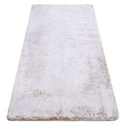 Modern washing carpet LAPIN shaggy, anti-slip beige / ivory