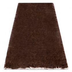 Modern washing carpet LAPIN shaggy, anti-slip ivory / chocolate