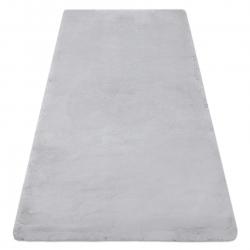 Modern washing carpet TEDDY shaggy, plush, very thick anti-slip grey