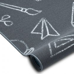 Fitted carpet for kids SCHOOL children's grey