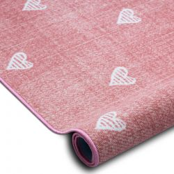 Fitted carpet for kids HEARTS Jeans, vintage children's - pink