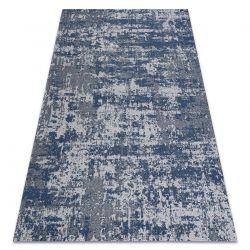 Carpet CASA, ECO SISAL Boho vintage 2809 grey / navy blue, recycled carpet