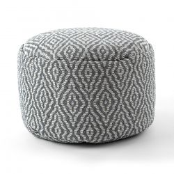 Pouffe CYLINDER 50 x 50 x 50 cm Boho 22084 footrest, for sitting anthracite / cream
