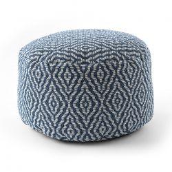 Pouffe CYLINDER 50 x 50 x 50 cm Boho 22084 footrest, for sitting navy / cream