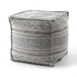 Pouffe SQUARE 50 x 50 x 50 cm Boho 2806 footrest, for sitting cream / taupe