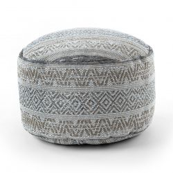 Pouffe CYLINDER 50 x 50 x 50 cm Boho 2806 footrest, for sitting cream / taupe