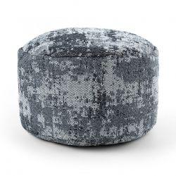 Pouffe CYLINDER 50 x 50 x 50 cm Boho 2809 footrest, for sitting light grey / anthracite