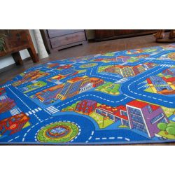 Carpet wall-to-wall STREETS BIG CITY blue