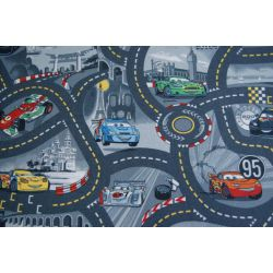 Carpet wall-to-wall DISNEY CARS 97 grey