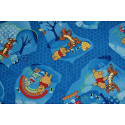 Carpet wall-to-wall WINNIE WOODLAND blue