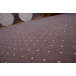 Fitted carpet AKTUA 144 brown