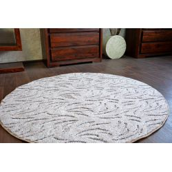 Carpet round IVANO brown