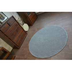 Carpet round UTOPIA grey