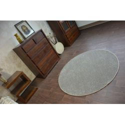 Carpet round UTOPIA taupe