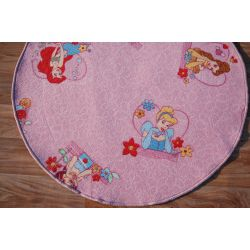 Carpet circle DISNEY PRINCESS pink