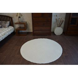 Carpet, round DELIGHT cream