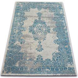 Carpet VINTAGE Rosette 22206/064 turquoise / grey
