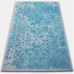 Carpet VINTAGE 22208/054 turquoise / cream classic rosette