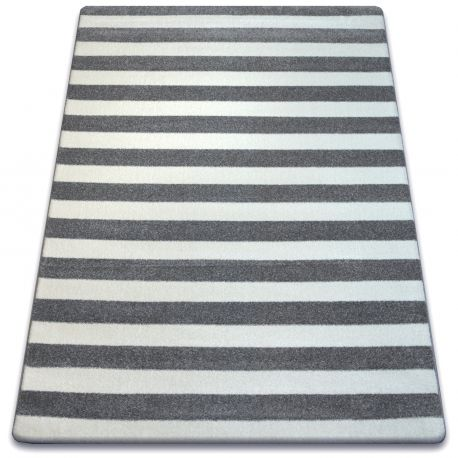 Carpet SKETCH - F758 grey/white - Striped