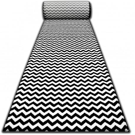 Runner SKETCH F561 black/cream - Zigzag