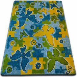 Carpet KIDS Butterfly blue C429