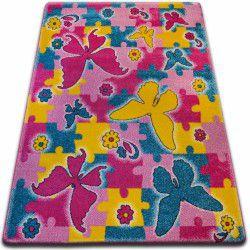 Carpet KIDS Butterfly pink C429