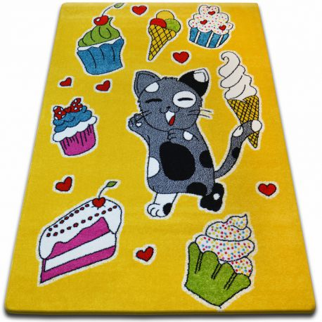 Carpet KIDS Cookie yellow C415