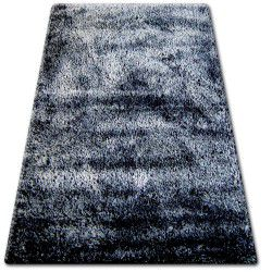 Koberec SHAGGY NARIN P901 černá krém+fialový