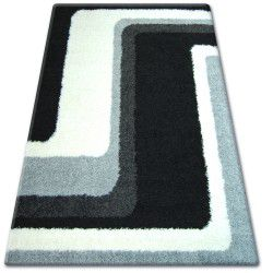 Carpet SHAGGY ZENA 2527 black / grey