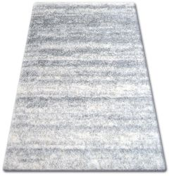 Carpet SHAGGY ZENA 3383 grey / white