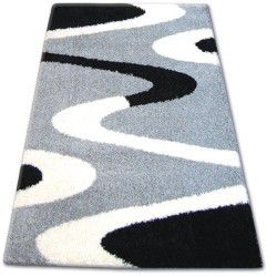 Carpet SHAGGY ZENA 3310 grey / black
