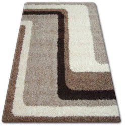 Carpet SHAGGY ZENA 2527 light beige / dark beige