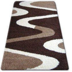 Carpet SHAGGY ZENA 3310 dark brown / ivory