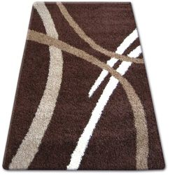 Carpet SHAGGY ZENA 4600 dark brown / dark beige