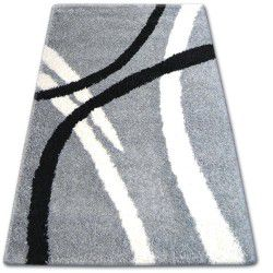 Carpet SHAGGY ZENA 4600 grey / white