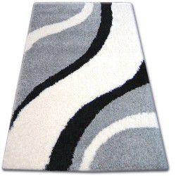 Carpet SHAGGY ZENA 3182 grey / white