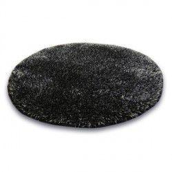 Carpet circle SHAGGY NARIN P901 black melon