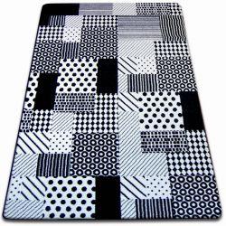Carpet SKETCH - F760 white/black - chequered