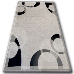 CARPET SISAL FLOORLUX 20078 silver / black