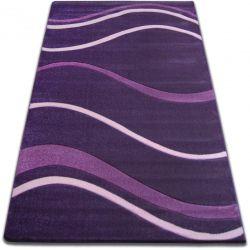Carpet FOCUS - 8732 dark violet WAVES LINES DASHES purple lila