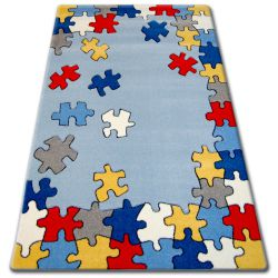 Carpet children HAPPY C212 blue Puzzle