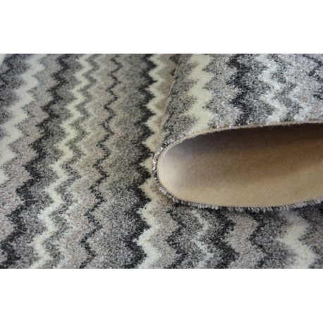 Fitted carpet ZIGZAG grey 0093