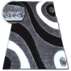 Koberec Shaggy SPACE 3D B314 šedá